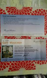Gift food vouchers at Royale Chulan hotel