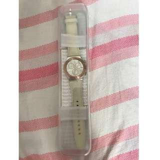 Swatch YYS412 白色皮錶