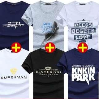 男裝夏季t-shirt($300/6件)