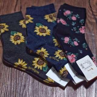 Korean Flower Socks