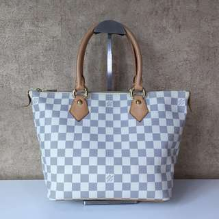 LOUIS VUITTON N51186 DAMIER AZUR SALEYA PM TOTE BAG