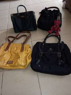 all in branded bags