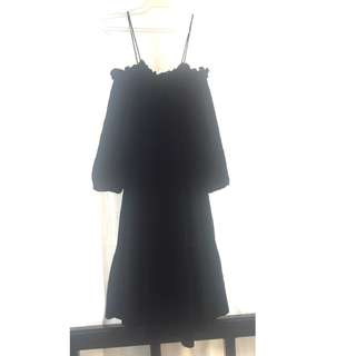 Promod - black off the shoulder with spaghetti strap dress