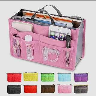multi pocket bag organizer/ make up kit/ gadget holder