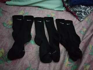 Nike double swoosh crew socks