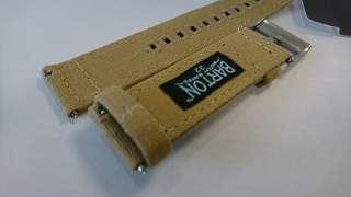 22mm Barton Canvas Beige/Khaki watch strap with Quick Release