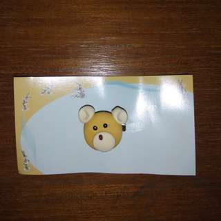 Bros Beruang Kecil Hijab Brown White Bear Brooch #mausupreme