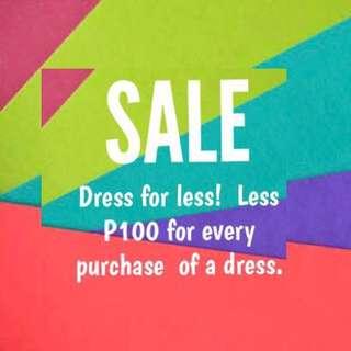 P100 OFF per dress