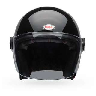 BN Bell Riot Black Glossy Motorcycle Helmet Size L