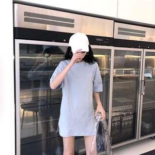 🚚 短袖T恤+高腰不規則百褶