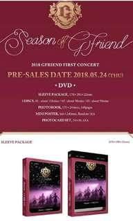 GFRIEND 2018 FIRST CONCERT - SEASON OF GRIEND DVD