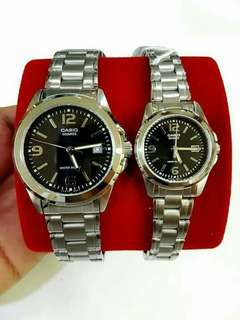 Original Casio couple watch also available per piece  1500.00 each