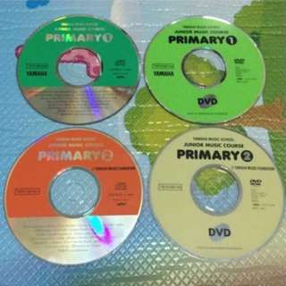 Yamaha Junior Music Course (JMC) Pri 1 to 4 CDs, DVDs and Textbooks