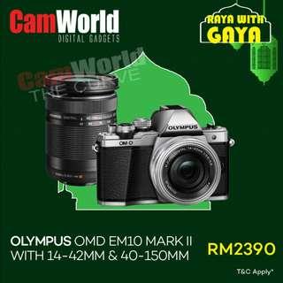 Olympus OMD EM10 Mark II With 14-42mm & 40-150mm