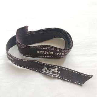 Hermes brown gift ribbon for bag wallet box 禮盒絲帶