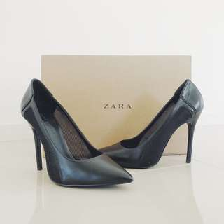 Zara Stiletto High Heel, subtle mesh detailing - size 36, perfect work to party shoes