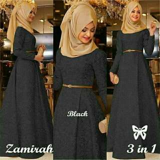Readystock Zamirah hijab 3 in1