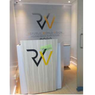 CUSTOMIZE Reception Counter Signature-Stainless--KHOMI
