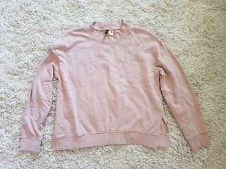 H&M blush pink sweater