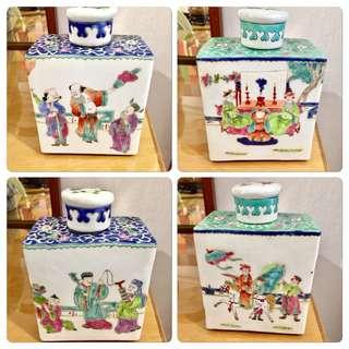 Assorted Vintage Tea Caddies