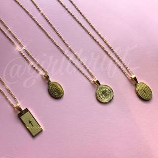 Gold Medallion Necklaces
