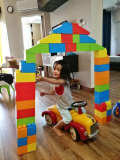 Mass bricks 40+2 pcs jumbo building blocks