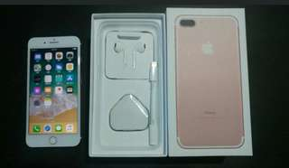 "99%  rose gold colour iPhone 7 plus 256gb, Hong Kong zp version,  full set with box.open line  5.5"" 100% original, like new, 100% working & good battery, full set new accessories, 7 days warranty.   5.5寸99% 新無花 玫瑰金色 iPhone 7 plus 256gb,港行zp, 100%全正常及電池良好"