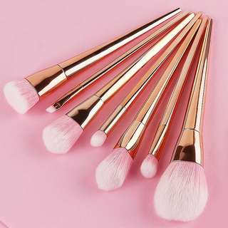 Makeup Brush Set (Metallic)
