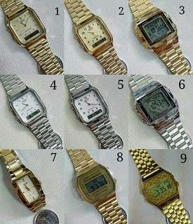 Original Casio vintage watch price starts @Php1250.00 - Php3500.00