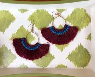 Red Fan earrings