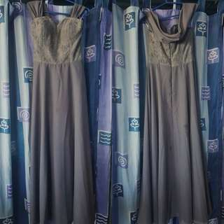 Gray offshoulder gown *used only once*