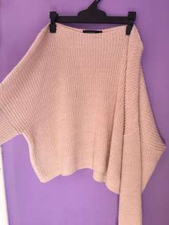 Off shoulder knit!