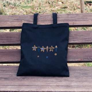 Starfish Designed Shoulder Tote Bag