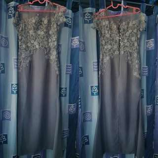 GRAY GOWN *USED ONLY ONCE*