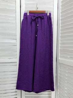 🇰🇷✈️➰🆕現貨上架 -麻質長褲 -米/黑/深藍/紫 4色