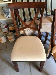 4 solid wood chairs