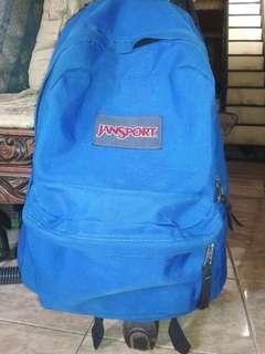 Backpack jansport blue