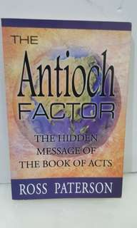The Antioch Factor: The Hidden Message of the Book of Acts -  Ross Paterson