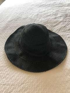 Bohemian summer hat Beautiful black sun hat cotton on