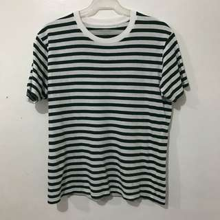 Uniqlo Green Striped Tee