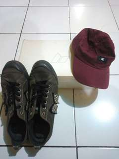Macbeth shoes and DC cap