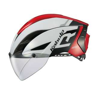 OGK Kabuto Aero R1 Helmet - Gloss White / Red