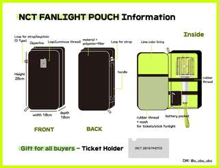 [MY G.O] NCT FANLIGHT POUCH