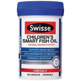 Australia Swisse Children's Smart Fish Oil 90 Capsules