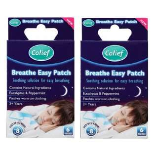 Colief Breathe Easy Patch (2 Packs)
