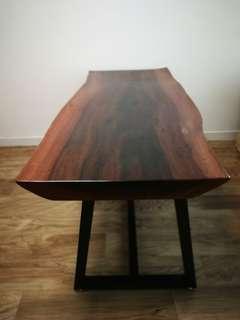 原塊木長餐枱,餐桌
