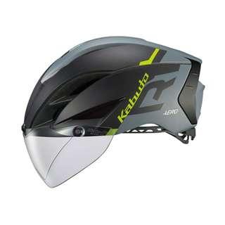 OGK Kabuto Aero R1 Helmet - Matte Black / Grey / Green