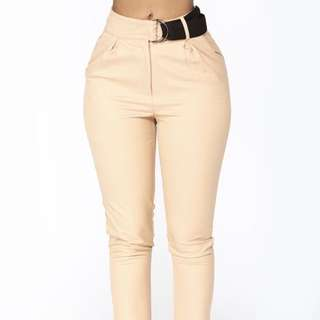BNWT Nude Belted Pants