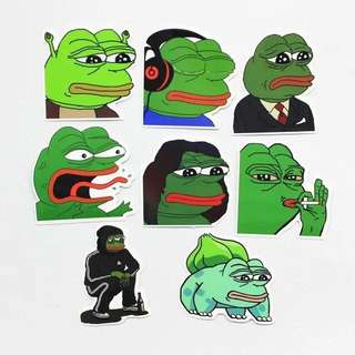 🚚 (CLEARANCE!!) PEPE WATERPROOF STICKER DECAL