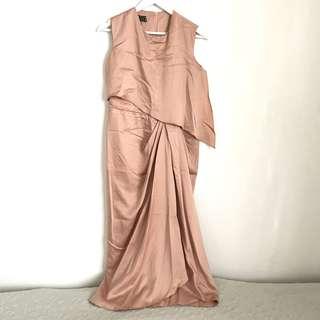 Nonss Draped Satin Dress